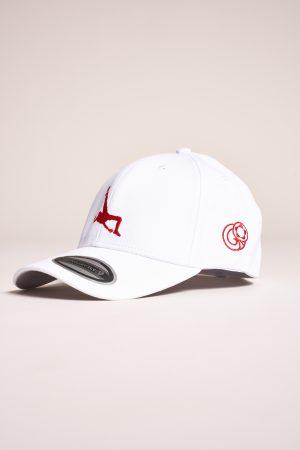 """כובע """"Shark Attack"""" בלבן-אדום"""