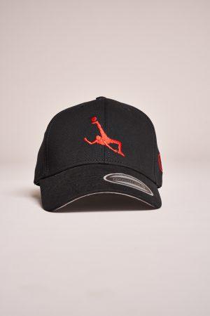 "כובע ""Shark Attack"" בשחור-אדום"