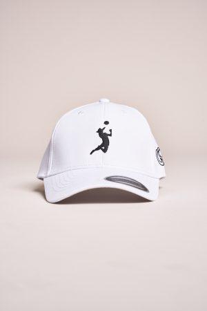 """כובע """"HEADER"""" בלבן-שחור"""