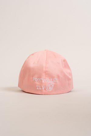 """כובע """"GIRL POWER"""" בורוד-לבן OVERSIZED"""