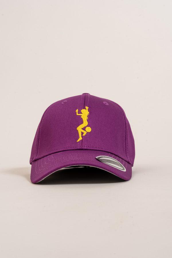 """כובע """"GIRL POWER"""" בסגול-צהוב"""
