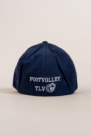 """כובע """"HEADER"""" בכחול-לבן OVERSIZED"""