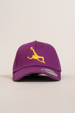 """כובע """"Shark Attack"""" בסגול-צהוב"""