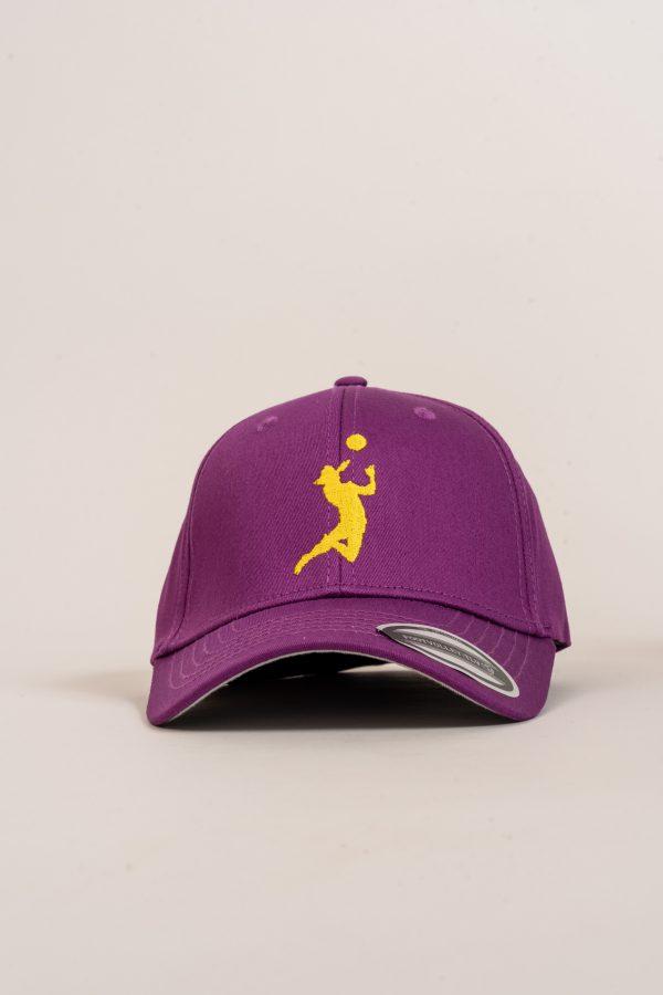 """כובע """"HEADER"""" בסגול-צהוב"""