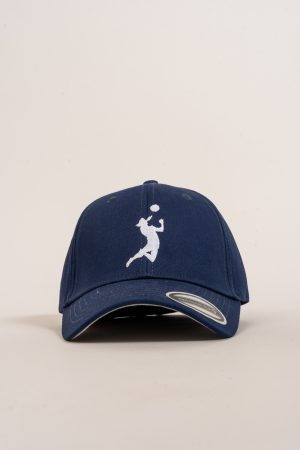 """כובע """"HEADER"""" בכחול-לבן"""