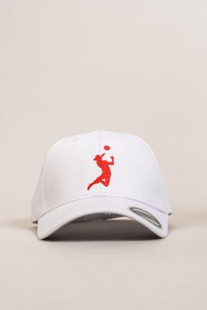 """כובע """"HEADER"""" בלבן-אדום OVERSIZED"""