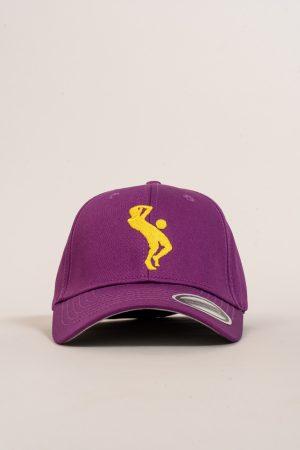"""כובע """"SARRDA"""" בסגול-צהוב"""