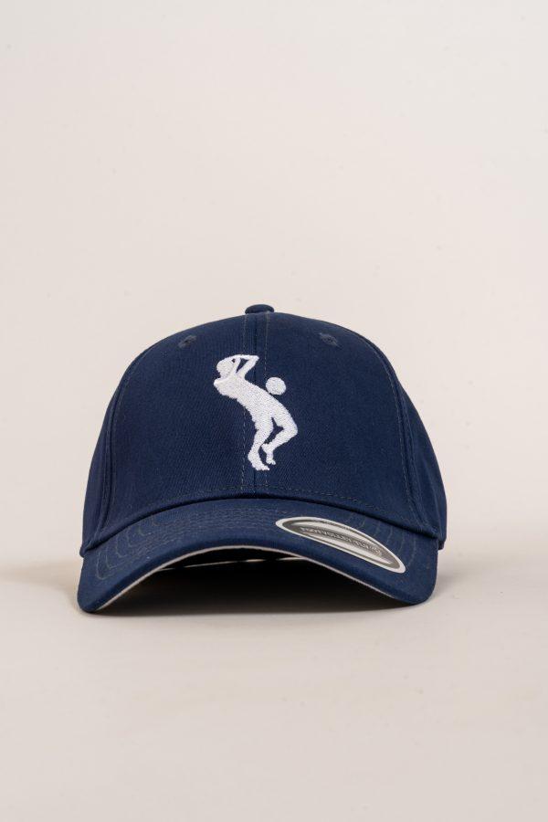 """כובע """"SARRDA"""" בכחול-לבן OVERSIZED"""
