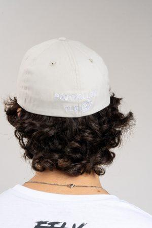 """כובע """"HEADER"""" באפור-לבן OVERSIZED"""