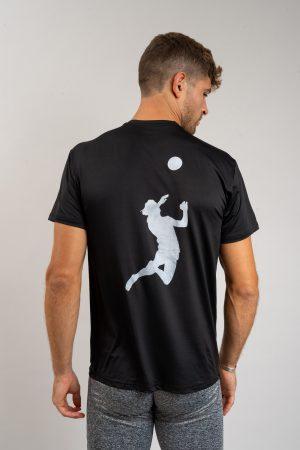"""חולצת אימון """"Header"""" בשחור"""