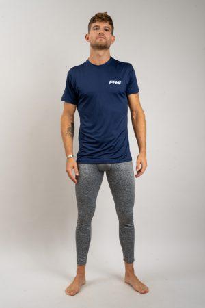 """חולצת אימון """"Header"""" בכחול"""
