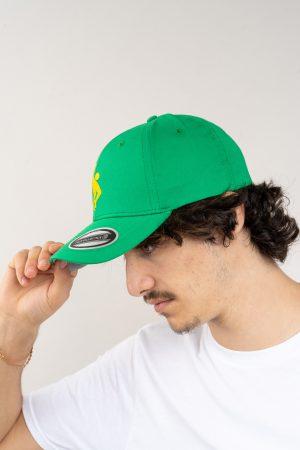 """כובע """"SARRDA"""" בירוק-צהוב OVERSIZED"""