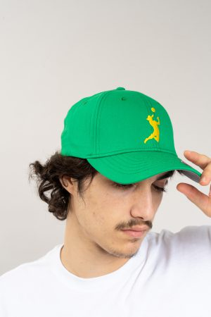 """כובע """"HEADER"""" בירוק-צהוב OVERSIZED"""