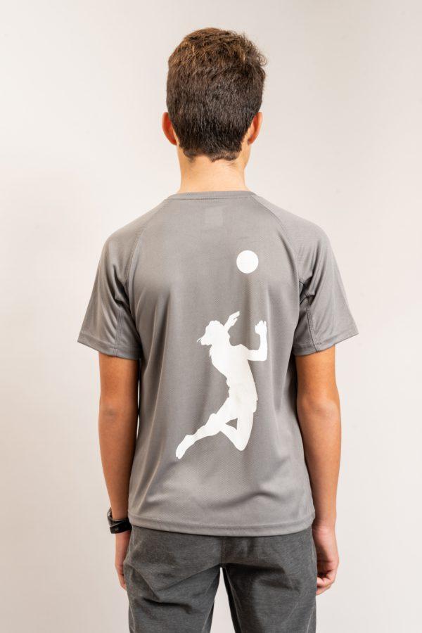 """חולצת אימון """"Header"""" באפור / מידה 12"""
