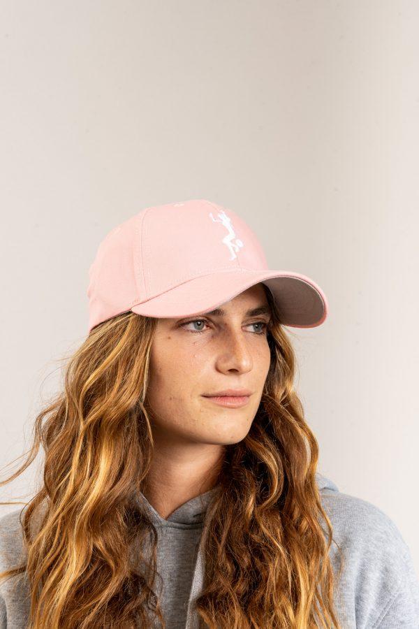 """כובע """"GIRL POWER"""" בורוד-לבן"""